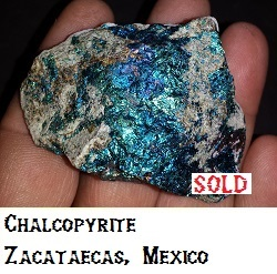 Chalcopyrite specimen