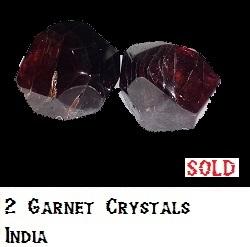 2 Garnet Crystals specimen
