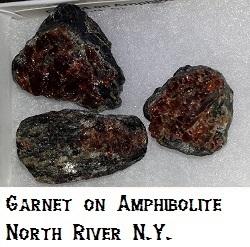 Garnet on Amphibolite specimen