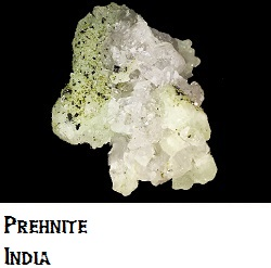Prehnite with Tourmaline Crystals