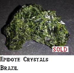 Epidote Crystals specimen