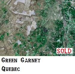Green Garnet specimen