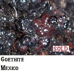 Goethite specimen