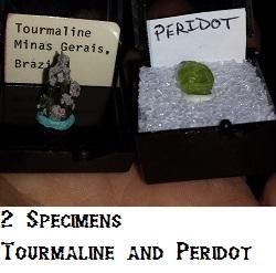 Peridot and Tourmaline