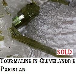 Tourmaline in Clevelandite