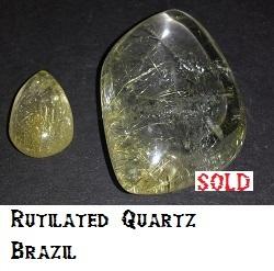 2 pieces of Rutilated Quartz
